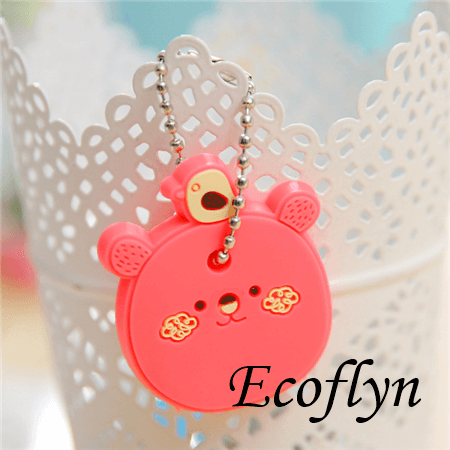 free sample in stock custom soft rubber key covers animal key covers cute key toppers in bulk wholesale supply in China