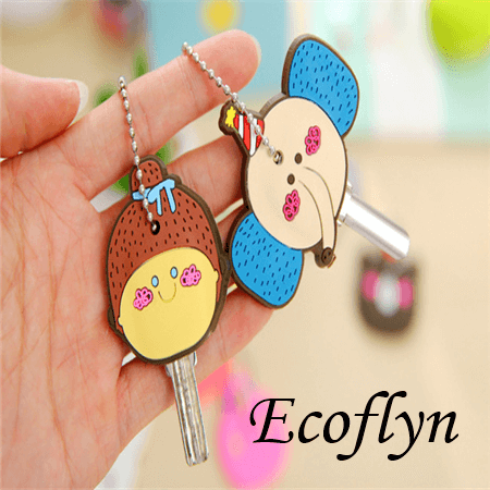 hot sale quality soft rubber cute key toppers kawaii key cover personalized key cover in bulk low MOQ wholesale in China