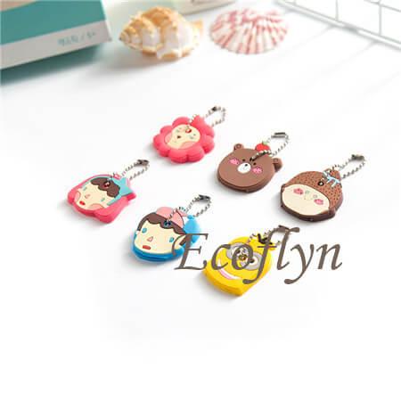 personalized custom bulk soft rubber cute key covers cute key caps key top covers free sample in bulk wholesale China