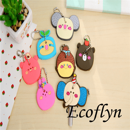 personalized custom soft rubber animal key covers cute key toppers kawaii key cover bulk rubber key covers wholesale in China