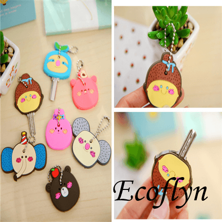 soft rubber key covers free sample in stock custom key covers animal key covers cute key toppers bulk low minimum wholesale in China