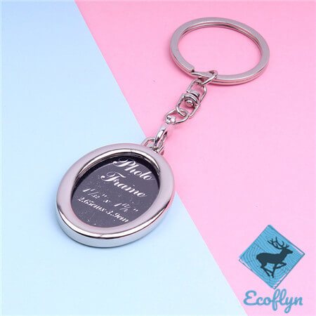 custom metal keychains free sample photo frame keychains in stock engraved picture keychain metal photo keychain photo keychain bulk low MOQ wholesale in China