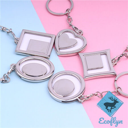 custom metal keychains free sample photo frame keychains in stock photo keychain picture keychain picture keyring bulk wholesale in China