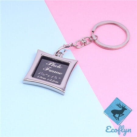 free sample in stock hot sale custom metal photo frame keychains picture keyring custom photo keychain in bulk wholesale low minimum supply in China