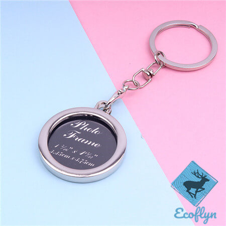 personalized high quality engraved picture keychain metal photo keychain photo keychain bulk custom photo keyrings free sample in stock bulk wholesale China