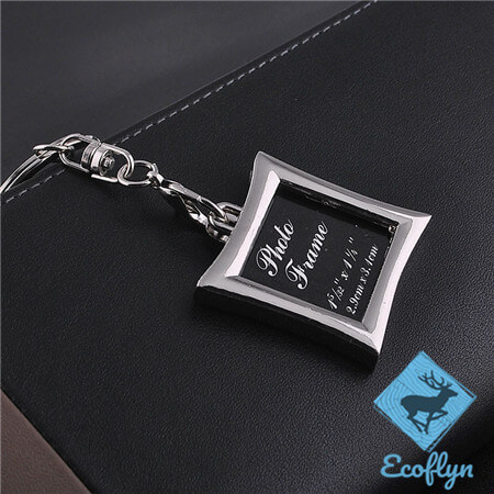personalized metak keyrings hot sale photo frame keychains picture keychain picture keyring custom photo keychain free sample in stock low MOQ wholesale in China