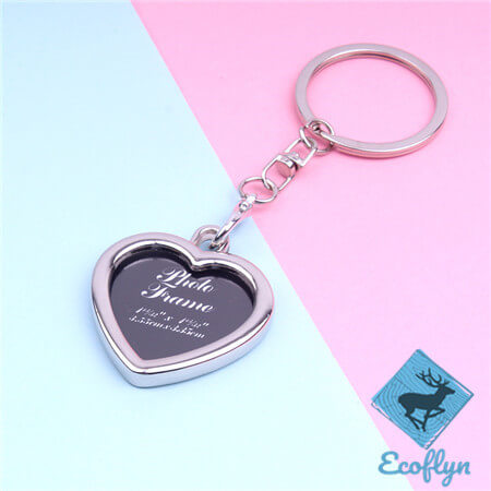 personalized metal keyrings photo frame keychains free sample in stock custom picture keychains engraved photo keychain heart photo keychain low minimum wholesale