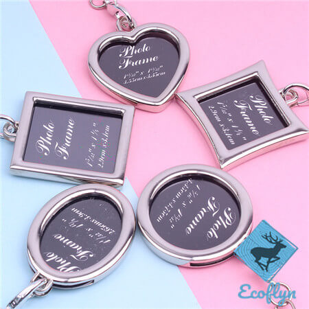 premium quality photo frame keychains photo keychain picture keychain free sample in stock in bulk wholesale low minimum supply in China