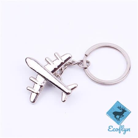free sample in stock custom airplane keyring aeroplane keychain personalised plane keyring low MOQ bulk supply in China