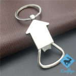 free sample in stock promotional metal engraved house keychains house shaped keychains house keychains wholesale house keychain engraved metal house shaped keychain low MOQ wholesale supply