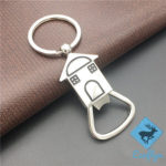high quality custom promotional metal engraved house keychains house shaped keychains first house keyring house keychain engraved home shaped keychain sample in stock wholesale supply China